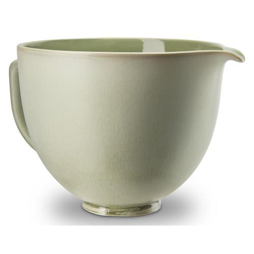 5 Quart Sage Leaf Ceramic Bowl - Other
