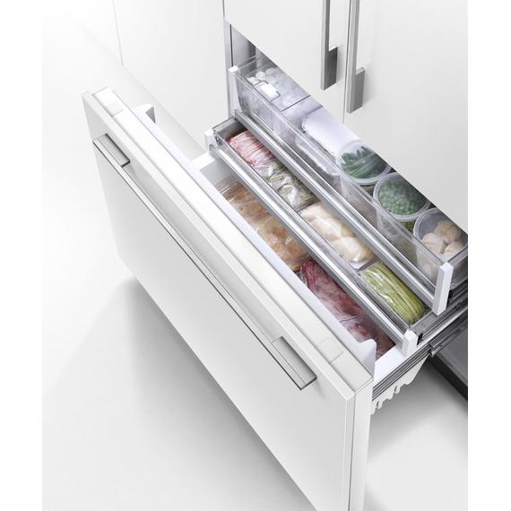 "Integrated French Door Refrigerator Freezer, 36"", Ice"