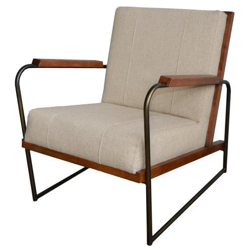 Damian Fabric Accent Arm Chair, Cardiff Tan