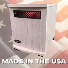 View Product - Original SUNHEAT USA1500-M Infrared Heater - White Painted Wood
