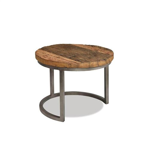 Riverside - 3-piece Nesting Coffee Table - Rustic Saal/bronze Metal Finish