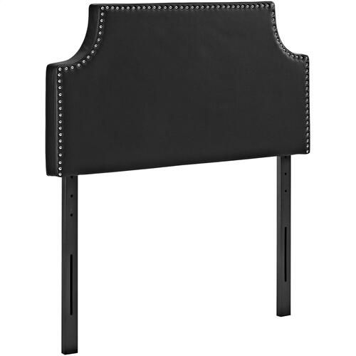 Modway - Laura Twin Upholstered Vinyl Headboard in Black