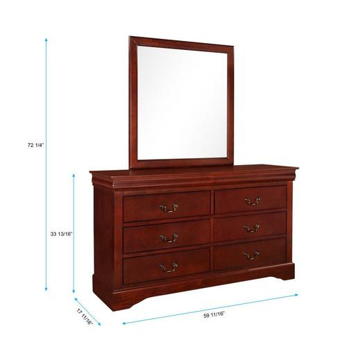 Lewiston Dresser, Dark Cherry Brown