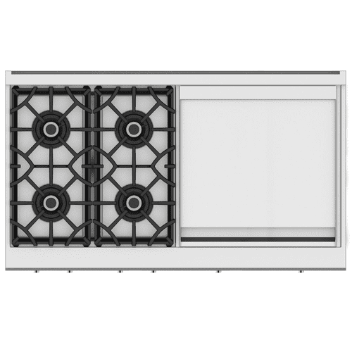 "48"" 4-Burner Rangetop with 24"" Griddle - KRT Series - Steeletto"