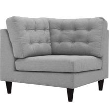 Empress Upholstered Fabric Corner Sofa in Light Gray