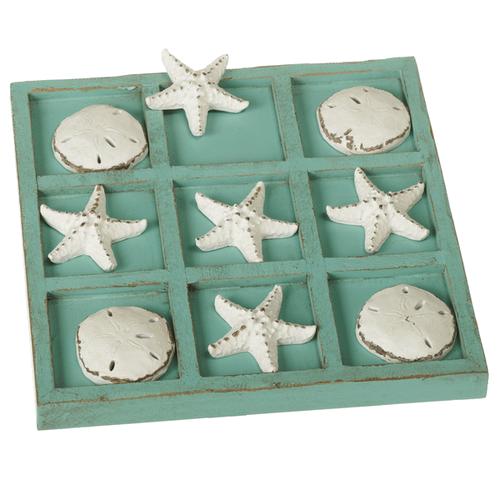 Starfish & Sand Dollar Tic-Tac-Toe Board