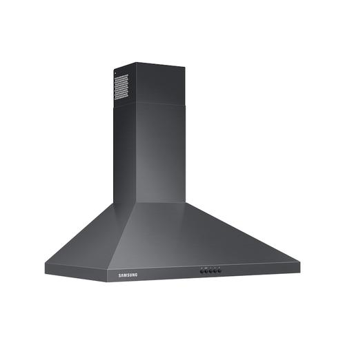 "30"" Wall Mount Hood in Black Stainless Steel"