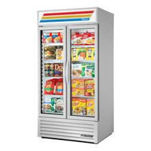 "True Glass Door Merchandiser, 1/2"" White Glass Swing Door Merchandiser Freezer with LED Interior Lighting - 115V Location: Chantilly Virginia, New - No Box, Inventory ID: 362149"
