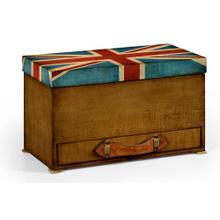 Union Jack Rectangular Box Painted