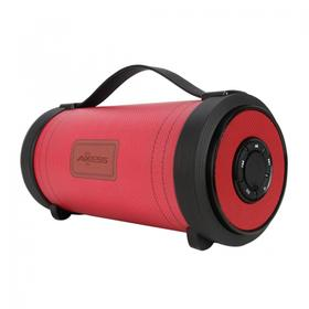 """Portable Bluetooth® Indoor/Outdoor 2.1 Hi-Fi Loud Speaker W/ Built-in 4"""" Sub + Vibrating Disk & SD Card USB-Red"""