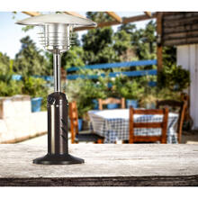 Hanover Mini Umbrella Tabletop Propane Patio Heater in Hammered Bronze, HAN0204HB