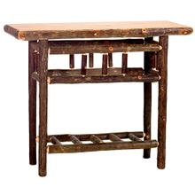 Open Sofa Table - Natural Hickory