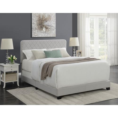 Product Image - Diamond Quilt Upholstered Queen Bed in Natural Grey