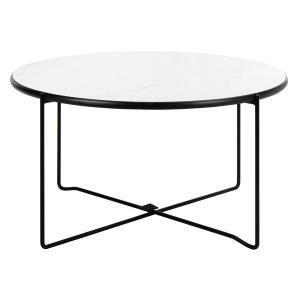 Safavieh - Wrena Round Coffee Table - White Marble / Black