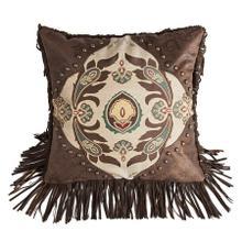 Loretta Western Medallion Throw Pillow W/ Fringe & Concho