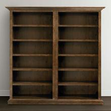 Emporium Smoked Oak Compass Tall Double Open Bookcase