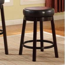 Set of Two Fun Color Wooden Swivel Barstools Counter Height Bistre Brown