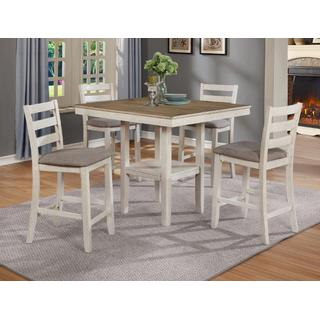 Tahoe Counter Height 5-piece Set White