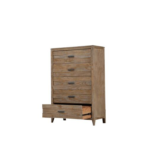 5 Drawer Chest Sandstone Finish