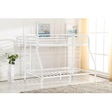 7537 WHITE Metal Bunk Bed