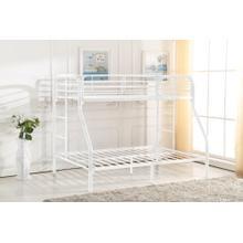 7537 WHITE Metal Bunk Bed