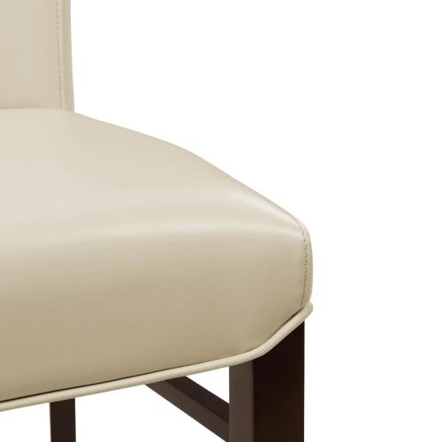 Milton Bonded Leather Dining Side Chair, Cream