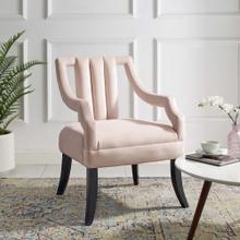 Harken Performance Velvet Accent Chair in Pink