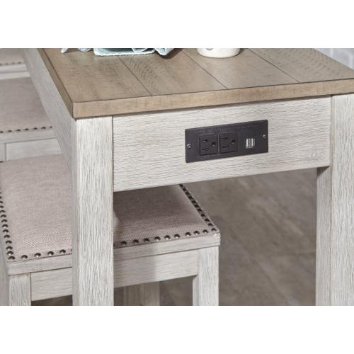 Skempton Two-Tone Sofa Table and 4 Stools