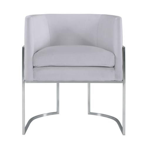 Product Image - Giselle Grey Velvet Dining Chair - Silver Frame by Inspire Me! Home Decor