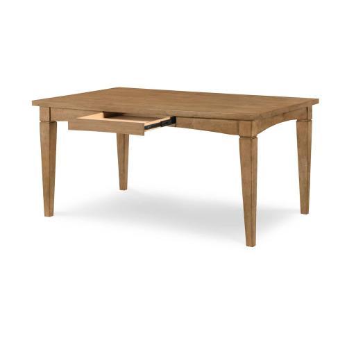 Gathering Rect to Square Leg Table - Nutmeg