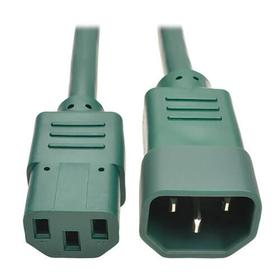 PDU Power Cord, C13 to C14 - 10A, 250V, 18 AWG, 6 ft., Green
