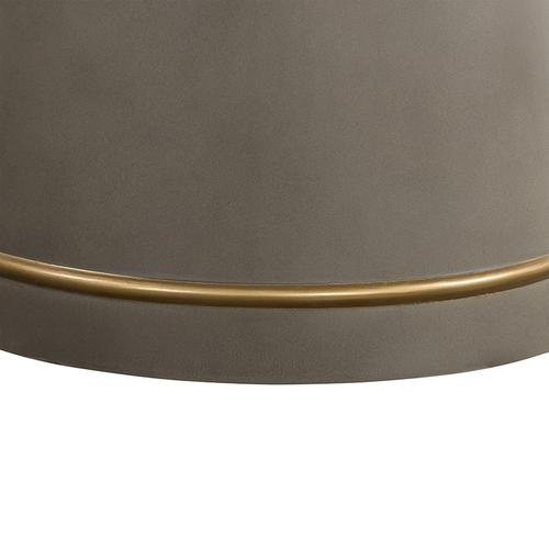 Pinni Grey Concrete Round Dining Table with Bronze Painted Accent