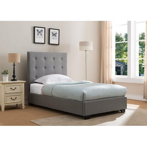 Stratford Platform Bed - Twin, Grey