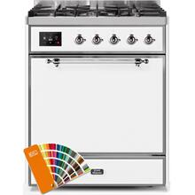 Majestic II 30 Inch Dual Fuel Liquid Propane Freestanding Range in Custom RAL Color with Chrome Trim