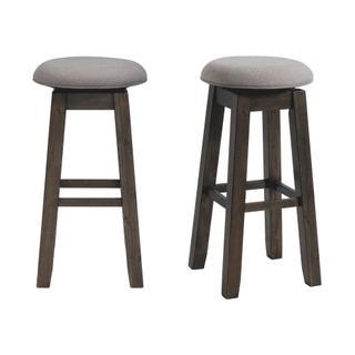 "See Details - Morrison 30"" Swivel Backless Bar Stool Set"