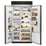 Kitchenaid 25.5 cu. ft 42-Inch Width Built-In Side by Side Refrigerator with PrintShield™ Finish - Black Stainless