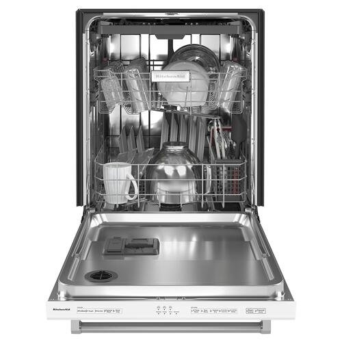 39 dBA Dishwasher with Third Level Utensil Rack - White