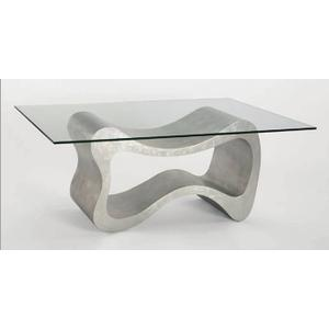 """Dining Table with Glass Base: 53x21x29"""", Glass: 45x76"""" & 1/2"""" thickness"""
