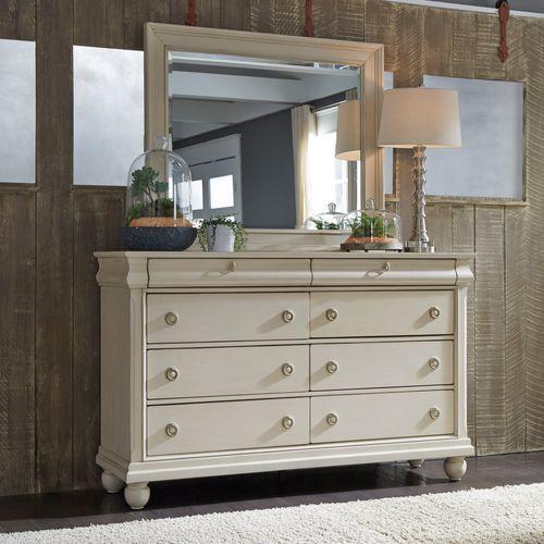 Queen Sleigh Bed, Dresser & Mirror, Chest, Night Stand