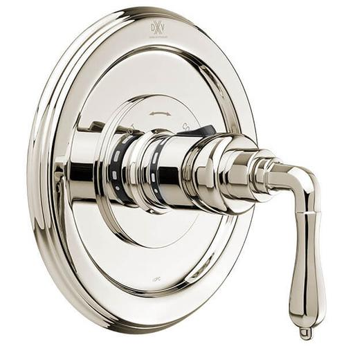 Dxv - Ashbee 1/2 Inch or 3/4 Inch Thermostatic Valve Trim with Lever Handles - Platinum Nickel