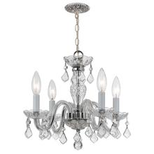 4 Light Clear Itali an Crystal Chrome Mini Chandel ier I