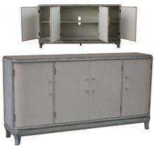 See Details - Marshall 4 Linen Door Acrylic Hardware Grey Wash Sideboard