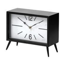 See Details - Lita Black Metal Rectangular Table Clock