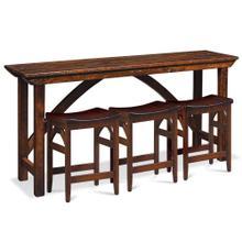 "See Details - B&O Railroad Console Bar Table, 72"""