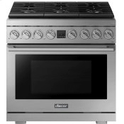 """Transitional 36"""" Dual-Fuel Range, Silver Stainless Steel, Natural Gas/Liquid Propane"""