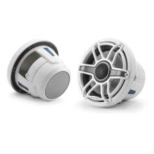 View Product - 8.8-inch (224 mm) Marine Coaxial Speakers, Gloss White Trim Ring, Gloss White Sport Grille