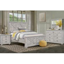CF-4000 Bedroom  Queen 5 Piece Bedroom Set  Wood Panel Bed