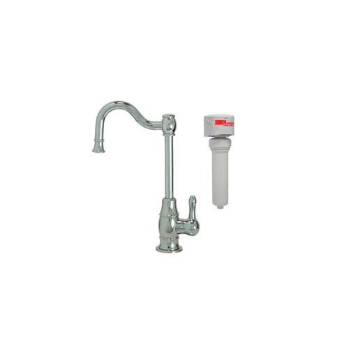 Mountain Plumbing - Point-of-Use Drinking Faucet with Traditional Double Curved Body & Curved Handle & Mountain Pure® Water Filtration System - Tuscan Brass