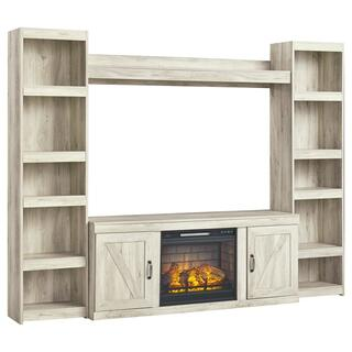 See Details - Bellaby 4-piece Entertainment Center With Electric Fireplace