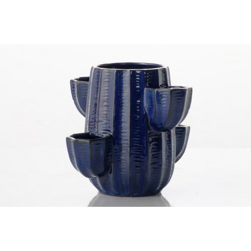 Cactus Five Pocket Strawberry Jar - Blue
